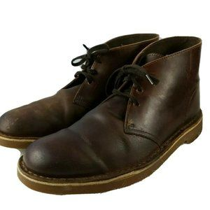 Clarks Bushacre Men's 9 Brown Leather Chukka Boots
